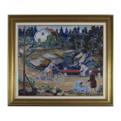 Ett verk av Åke Wickström.