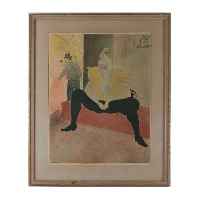 Ett verk av Toulouse Lautrec.