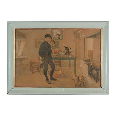 Ett verk av Carl Larsson.