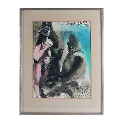 Ett verk av Paplo Picasso.