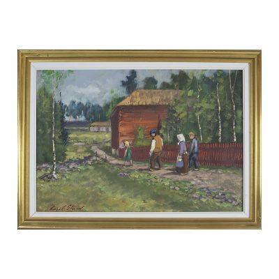 Ett verk av Helge E Strand.